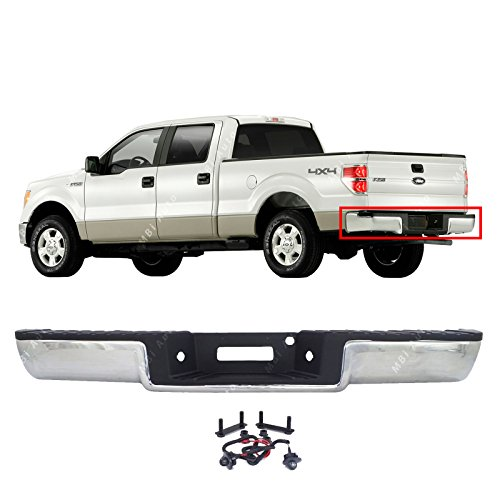 - MBI AUTO - Steel Chrome, Complete Rear Bumper Assembly for 2006 2007 2008 Ford F150, FO1103136