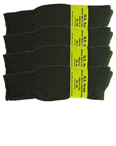 Olive Drab U S  Army Sock Package   4 Pairs   Xl