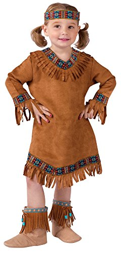 Fun World Costumes Baby Girl's Native American Toddler Girl Costume, Brown, Large(3T-4T) -