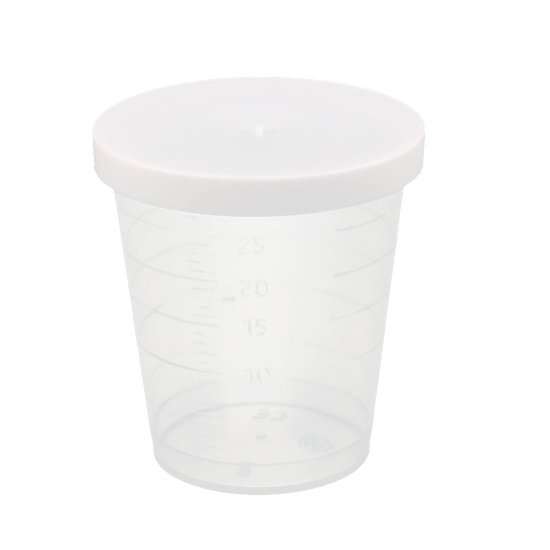 sourcingmap® 2 Pcs 30mL School Laboratory Transparent Plastic Liquid Container Measuring Cup Beaker a16082900ux0435