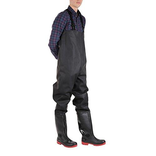 Amblers - Calzado de protección para hombre negro/ rojo