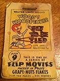 Woody Woodpecker Wally Walrus Flip Movie Book Grape Nuts Premium