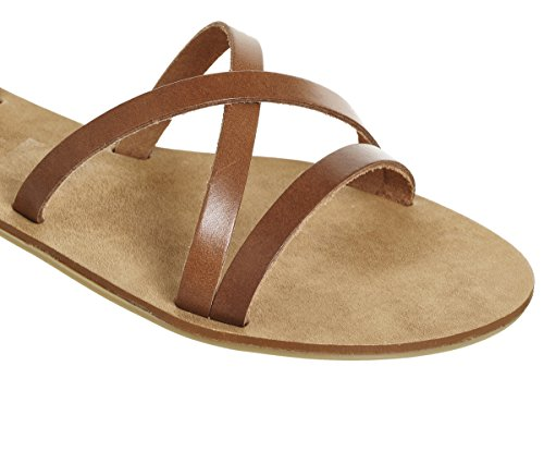 Tan Strappy Stephan Sandals Ankle Office Leather RWvI76qPHP