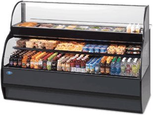 Federal Refrigerated Merchandiser (Federal Industries SSRSP5952 Specialty Display Sandwich or Salad Prep Merchandiser With Refrigerated Self-Serve Bottom)