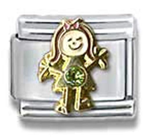 (Stylysh Charms Birthstone Birthday Girl CZ Rhinestone 9mm Charm Fits Nomination Classic)