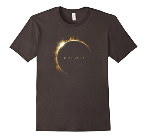 Mens Total Solar Eclipse Summer August 21St 2017 T Shirt Medium Asphalt