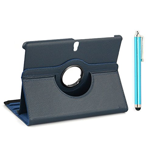 Multi Angle (Apexel Lichee Pattern Leather Case with Dual View Multi-Angle Stand and Touch Pen for Samsung Galaxy Tab S 10.5, Dark Blue (T800-1-DBLU))