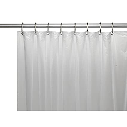 United Linens 10 Gauge HEAVY DUTY Shower Curtain Liner FROSTED CLEAR70x72 PEVA