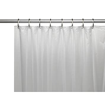 Amazing United Linens 10 Gauge HEAVY DUTY Shower Curtain Liner FROSTED CLEAR,70x72,  PEVA,