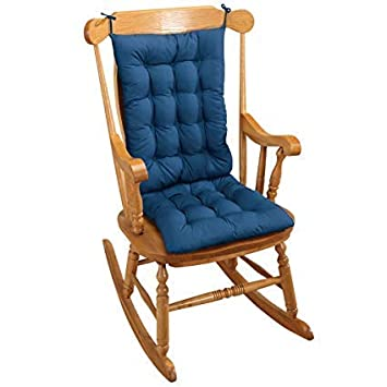 Astounding 2Pc Padded Rocking Chair Cushion Set Blue Pabps2019 Chair Design Images Pabps2019Com