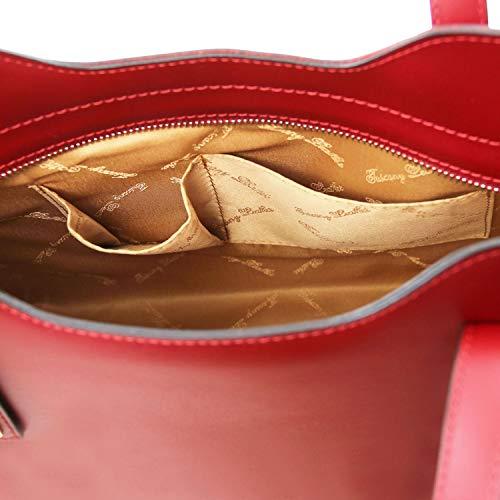Misura A In Piccola Mano Leather Ballet Pink Pelle Borsa Olimpia Rosso Tuscany qXtp0Ot