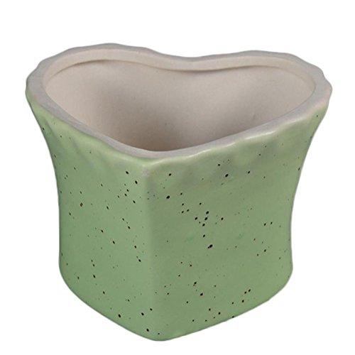 - LAMEIDA Ceramic Flowerpot Heart Shape Succulent Plant Pot Outdoor Plant Pot Flower Planter Decorative Centerpiece Bowl with Hole