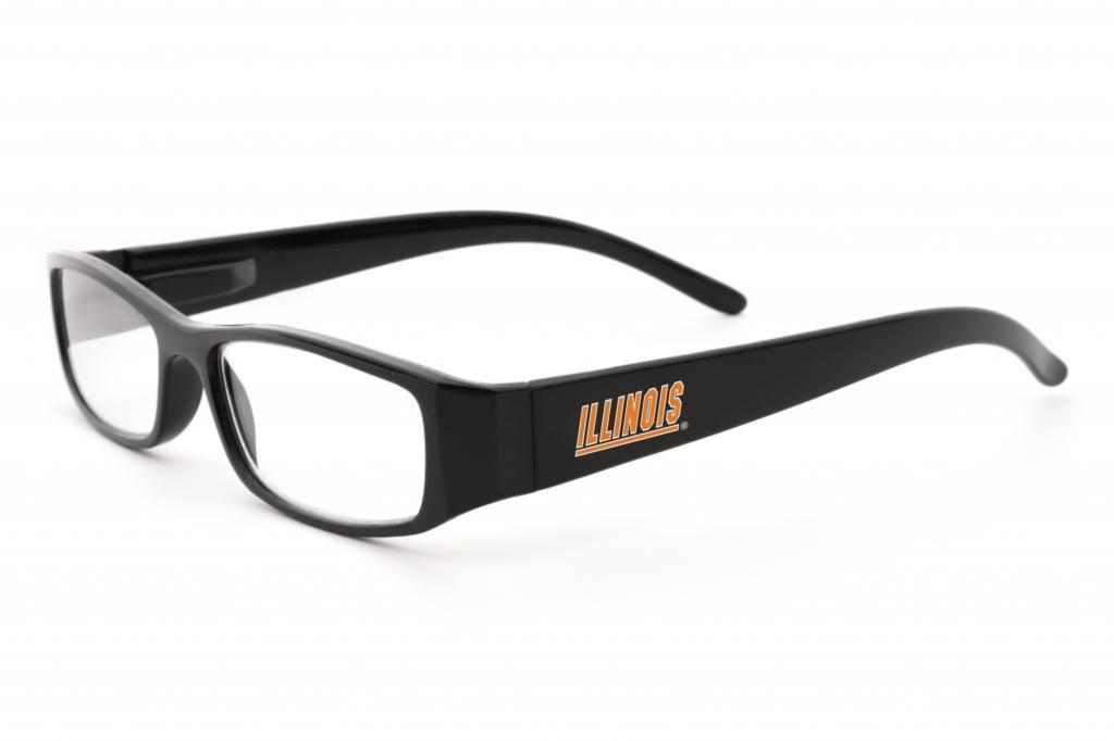 NCAA Illinois IlliniフレームReaders + 1.50サングラス、ワンサイズ、ブラック B00ELOJKDO