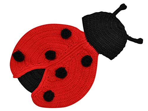 (ACE SHOCK Newborn Unisex-Baby Ladybug Costume, Cute Infant Insect Cosplay Outfit Photography Props (0-3 Months,)