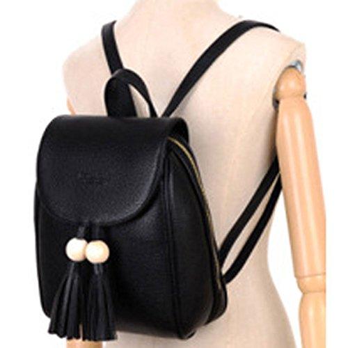 PU Bag Backpack Casual Belt School Leather Col4 Bookbag Donalworld Women tR5x8wqP