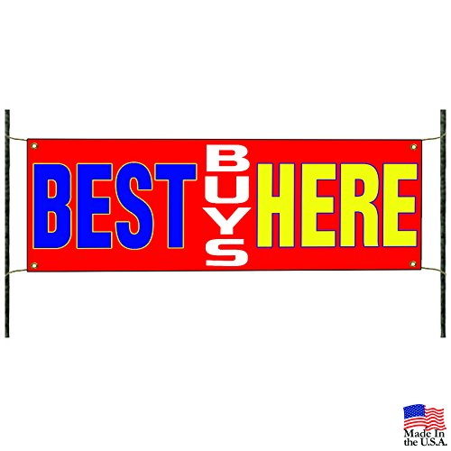 Best Buys Here New & Used Cars Retail Advertising Vinyl Banner Sign by Afterprints