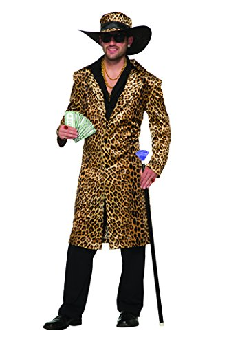 Forum Men's Old School Funky Leopard Jacket and Hat, As Shown, -