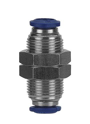 AIGNEP USA 88050-04 Bulkhead Union, 1/4'' Tube (Nickel Plated Brass)