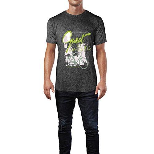 SINUS ART® Cycling is Freedom Herren T-Shirts in dunkelgrau Fun Shirt mit tollen Aufdruck