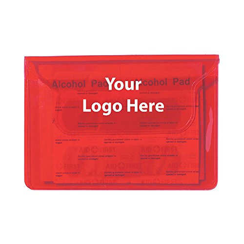 First Aid Pouch - 250 Quantity - $0.99 Each - PROMOTIONAL PRODUCT / BULK / BRANDED with YOUR LOGO / CUSTOMIZED by Sunrise Identity
