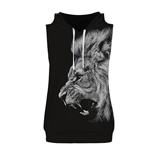 (Men Tank Top Casual Men Hoodie Casual Splash-Ink 3D Print Vest Blouse Sleeveless T Shirt Zulmaliu (Black A, M))