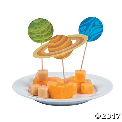 Space Party Cupcake Picks - 25 (Space Party Decorations)