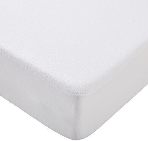 funda para Colch/ón impermeable revestida de PU para protecci/ón total blanco blanco Talla:60 x 120 cm