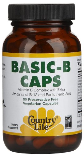 COUNTRY LIFE VITAMINS BASIC B, 90
