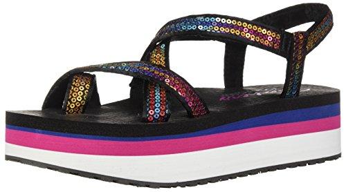 Skechers Women's Whip IT-Fest-Sequined Toe-Loop Platform Sandal, Multi, 8 M US