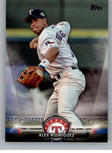 2018 Topps Update and Highlights Baseball Series Salute #S-17 Alex Rodriguez Texas Rangers Official MLB Trading Card -