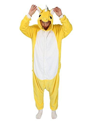 Adult Onesie Unicorn for Women Men Pajamas Animal Cosplay Halloween Costume Cute Sleepwear (M for Height 63