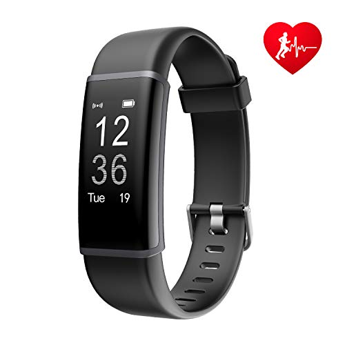 Letsfit Fitness Tracker HR, Waterproof Heart Rate Monitor Watch, Step Counter Sleep Monitor Sports Tracking Connected GPS, Smart Wristband, Pedometer Watch for Kids Women Men – DiZiSports Store