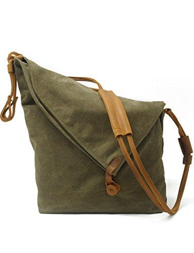 Casual Green Bag Multifunction Shoulder Retro Bag Travel Women's Canvas Messenger Daypack Bag UONBOX Army Bag Shoulder Hobo aw57xq5Sz