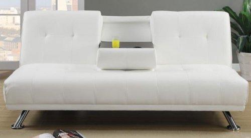 Amazon.com: poundex f7029 Crema Tufted polipiel sofá ...