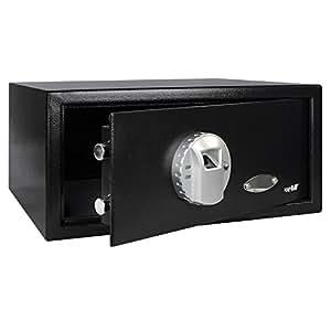 HMF 49126 Caja Fuerte Impresión Dedos Seguridad Electrónica Biométrica FS-37EM, 42 x 37 x 20 mm , antracita