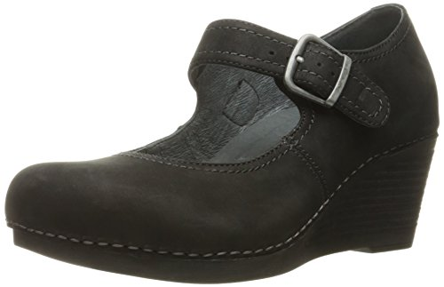 - Dansko Women's Sandra Wedge Pump, Black Nubuck, 37 EU/6.5-7 M US
