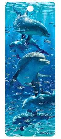 Artgame - Dolphins - 3D Bookmark]()