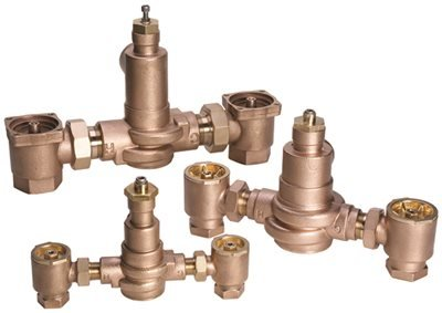 POWERS PROCESS CONTROLS LFMM431-1 Thermostatic Mixing Valve, 3/4'' x 3/4'', Rough Bronze
