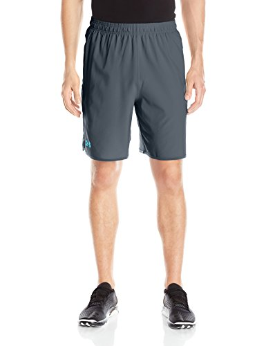 Under Armour Men's Qualifier 9' Woven Shorts, Stealth Gray/Blue Shift, Large