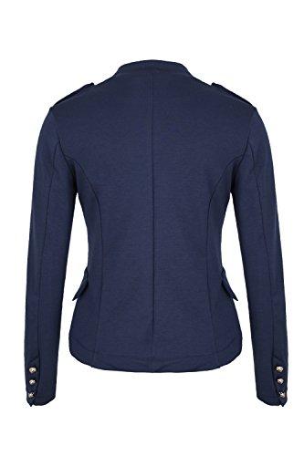 Bleu 4tuality Blazer Massimo Militaire Fonc AO Style XH64qww