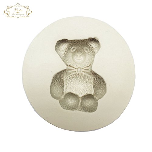 Price comparison product image Toy Bear - Teddy Sitting Design Mat Silicone Mould for Cake Decorating Cupcakes Sugarcraft Candies