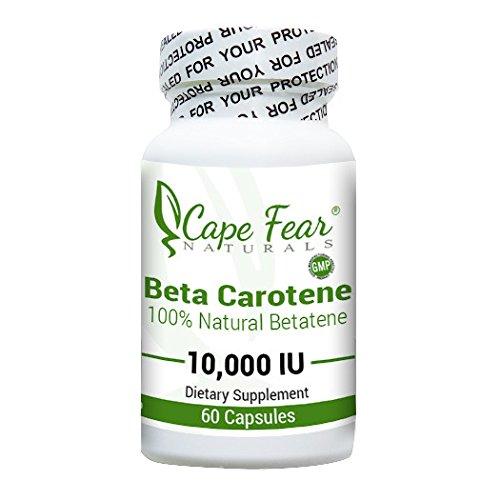 Cape Fear Naturals Beta Carotene, 10,000 IU, 60 Capsules