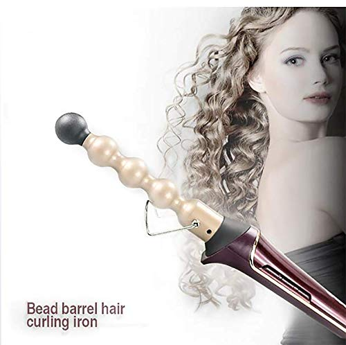 Hair curler Professional LED Ceramic Iron Electric Curl LCD Digital Hair Curling Wand Salon Hair Styling Tools Styler ()