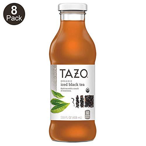 Tazo Organic Iced Tea, Black Tea, 13.8 Ounce Glass Bottles, 8 Pack (Tazo Organic Iced Tea)