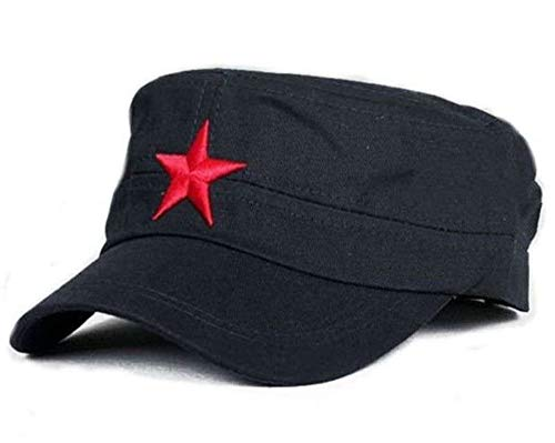 Blue Fatigue Military Patrol Cap Red Star Castro Style Hat ()