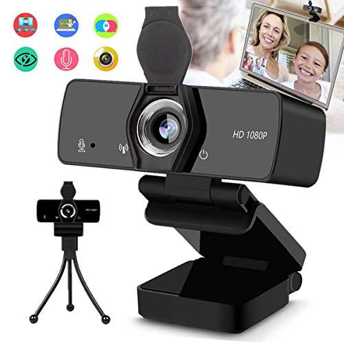 Burxoe Webcam1080P Hd Web Camera with Microphone for Desktop Computer Laptop Pc USB Camera Streaming