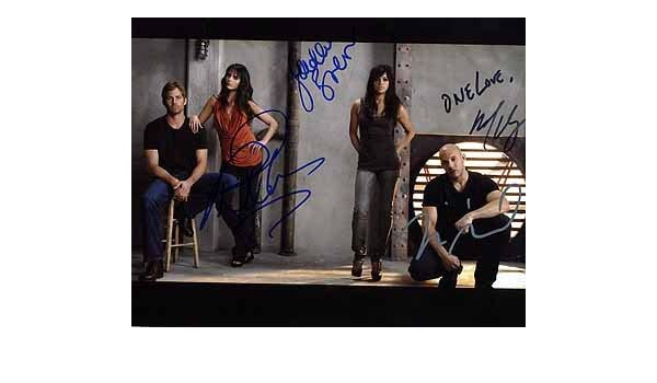 FAST   FURIOUS 6 (Vin Diesel, Paul Walker, Michelle Rodriguez,   Jordana  Brewster) 8x10 Cast Photo Signed In-Person at Amazon s Entertainment  Collectibles ... d68b1acc72