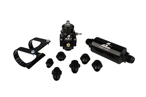 - Aeromotive 17256 Fuel System, Stealth, Bypass Carb (Regulator, Filter, Filter Bracket, Gauge, Fittings)