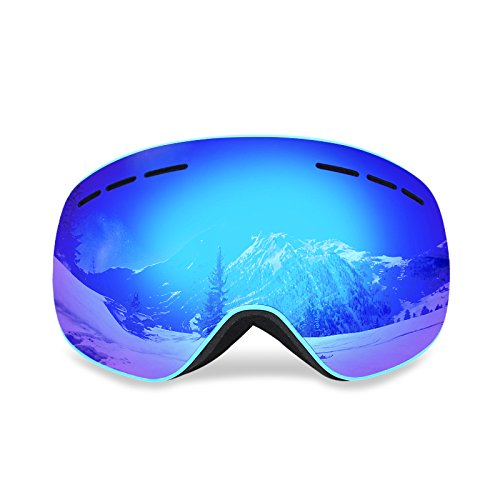 Uniquebella Lagopus Magnet Interchangeable Lens Ski Goggles Anti-fog Polarized UV400 Protection OTG Spherical Dual Lens Snow Glasses Helmet compatible for Snowboard Skate Motorcycle Bicycle, - Polarized Best Goggles Ski