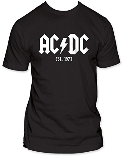 AC/DC - Est. 1973 Mens T-Shirt In Black